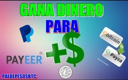 GANA DINERO PARA PAYEER, PAYPAL, PAYZA, LITECOIN, BITCOIN Y MAS