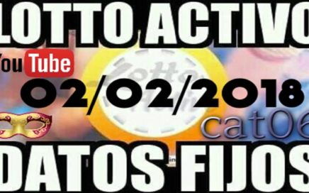 LOTTO ACTIVO DATOS FIJOS PARA GANAR  02/02/2018 cat06