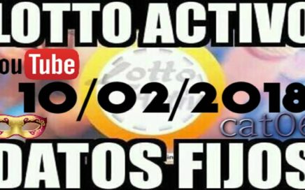 LOTTO ACTIVO DATOS FIJOS PARA GANAR  10/02/2018 cat06