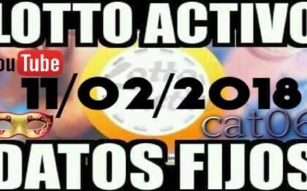 LOTTO ACTIVO DATOS FIJOS PARA GANAR  11/02/2018 cat06