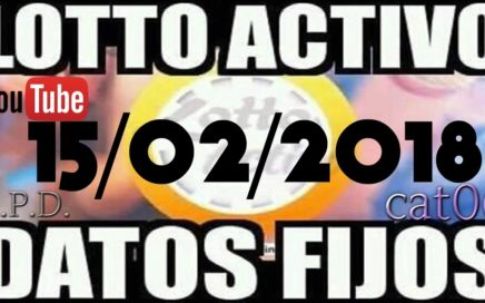 LOTTO ACTIVO DATOS FIJOS PARA GANAR  15/02/2018 cat06