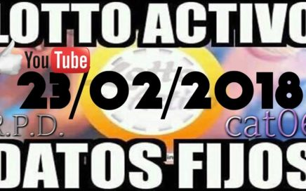 LOTTO ACTIVO DATOS FIJOS PARA GANAR  23/02/2018 cat06