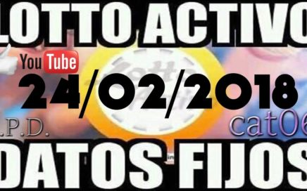LOTTO ACTIVO DATOS FIJOS PARA GANAR  24/02/2018 cat06