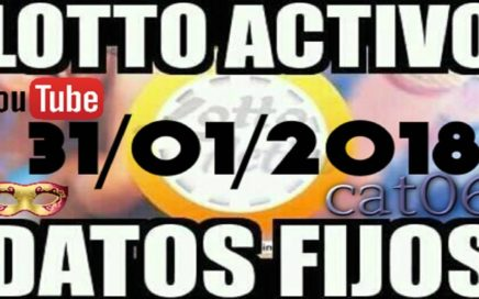 LOTTO ACTIVO DATOS FIJOS PARA GANAR  31/01/2018 cat06