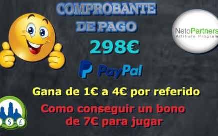 Pago de 298€ por Netopartner |Gana de 1€ a 4€ por referido|La herramienta derrota la crisis