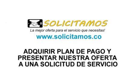 Solicitamos: Adquirir plan de pago y ofertar en una solicitud-Rol Proveedor