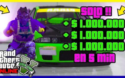 """SOLO!! OBTENER $1.000.000 CADA 5 MINUTOS """"GTA V ONLINE"""" SUPER FACIL"""