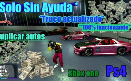 *Solo Sin Ayuda* Truco Dinero Infinito Facil Y rapido Duplicar Autos GTA5 online xbox one PS4
