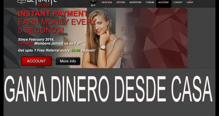 UltimateClixx, Excelente PTC para Ganar Dinero desde casa