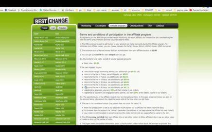 Bestchange gana dinero por invitar personas a registrarse en esta pagina de intercambio de divisas