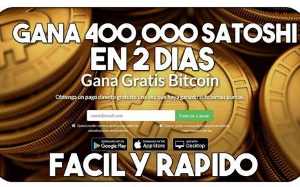 COMO GANAR BITCOINS  486.028 SATOSHIS POR DÍA  GENERADOR DE BTC GRATIS | COMPROBANTES DE PAGO