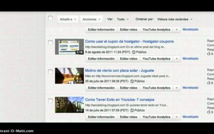Como ganar dinero en internet con youtube subiendo videos
