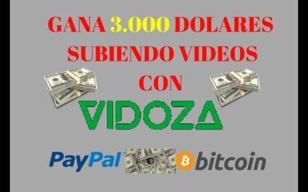 COMO GANAR DINERO SUBIENDO VÍDEOS  A INTERNET  CON VIDOZA +COMPROBANTE DE PAGO