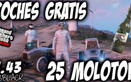 """DAR COCHES a AMIGOS - COMO TENER 25 COCTELES MOLOTOV """"GRATIS"""" - GTAV 1.43 - (PS4 - XBOX One)"""