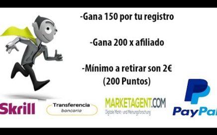Hacer dinero con MarketAgent, encuestas 2018