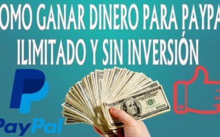 LA MEJOR PAGINA PARA GANAR DINERO PARA PAYPAL 2017 | SIN INVERTIR E ILIMITADAMENTE | PARTE 1
