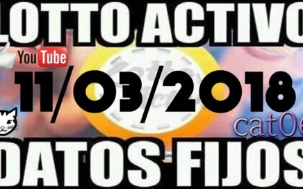 LOTTO ACTIVO DATOS FIJOS PARA GANAR  11/03/2018 cat06