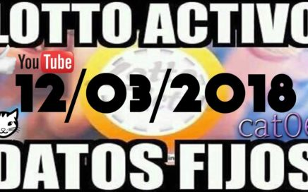 LOTTO ACTIVO DATOS FIJOS PARA GANAR 12/03/2018 cat06