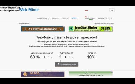 MINERIA EN RUBLOS + COMPROBANTE DE PAGO WEB MINER
