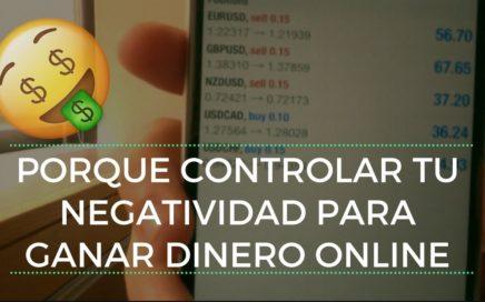 Porque Controlar Tu Negatividad Para Ganar Dinero Online |  Audrey Millan