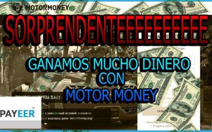 SORPRENDENTE  GANAMOS MUCHO DINERO! CON MOTOR MONEY   SIN INVERTIR +COMPRBANTES DE PAGO