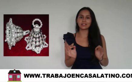 TRABAJO EN CASA ENSAMBLANDO CAMPANAS DE PERLAS GANE  $1440 DOLARES  AL MES
