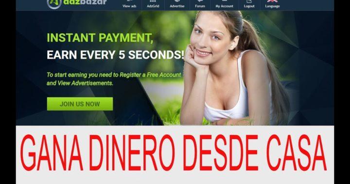 Adzbazar PTC confiable para Ganar Dinero desde casa