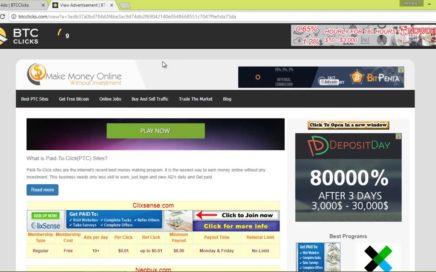 Btc Clicks Gana dinero facil   Tutorial