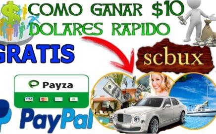 Como ganar $10 Dolares gratis para Paypal rapido / Dinero gratis/ La mejor pagina que paga 2018
