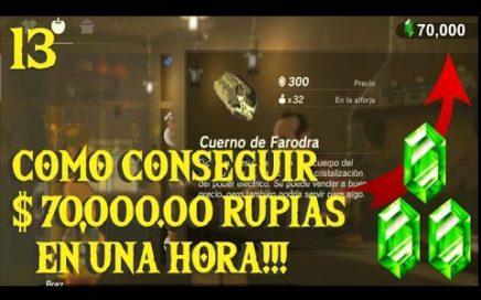 ¿Cómo ser Millonario en Zelda Breath Of The Wild? Consigue 70 mil rupias en una hora.