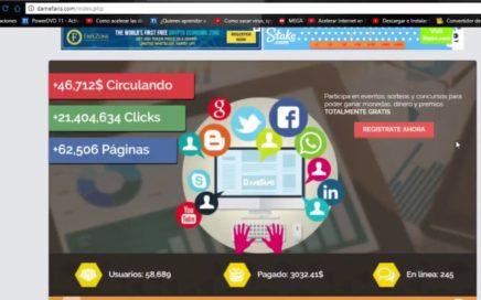 DameFans - Bono de Registro $1,00 - Nueva Página para Ganar Dinero con tus Redes Sociales 2018