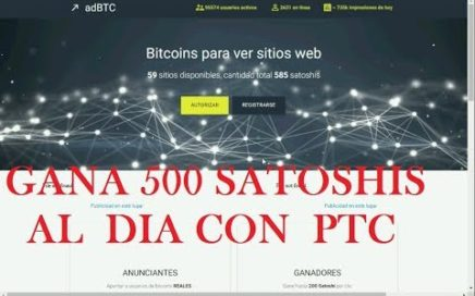 Facil pagina para ganar satoshis tipo PTC si paga adBTC