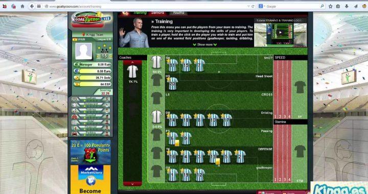Gana dinero jugando con Goaltycoon