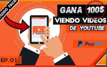 Gana Dinero Solamente VIendo Videos de Youtue/Minímo de Retiro 0.02 Directo Pagos Para Paypal