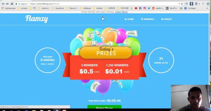 Gana Dinero Viendo Videos con Flamzy pago directo a Paypal
