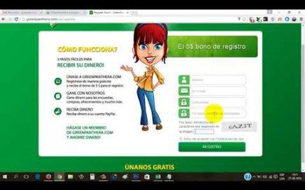 GreenPanthera Explicación Completa  Gana Dinero a Paypal Respondiendo Encuestas