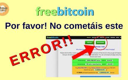 Mejor Estrategia Freebitcoin para Ganar Bitcoins Gratis: No cometáis este ERROR!! HD (2018)