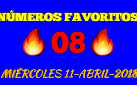 NUMEROS FAVORITOS PARA HOY MIÉRCOLES 11 DE ABRIL 2018 Todas las loterías .