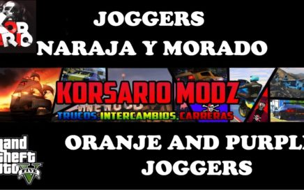 TRUCO DE GTA 5 ONLINE GUARDAR JOGGER MORADOS Y NARANJAS - JOGGER ORANGE AND PURPLE GLITCH GTA V
