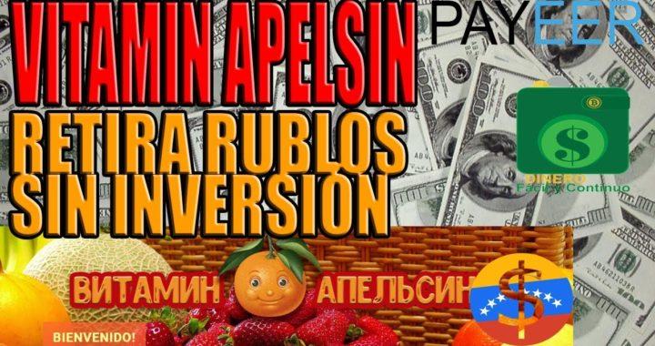VITAMINAPELSIN | Tutorial página rusa pagando instantáneamente sin invertir, gana dinero para payeer