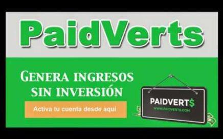 Web de ganar dinero fácil Paidverts Abril 2018
