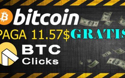 BtcClicks Paga 11.57$ Gratis en BITCOIN [Pagina Confiable para Ganar BTC] 3er Pago