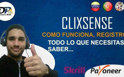 CLIXSENSE, COMO FUNCIONA, REGISTRO