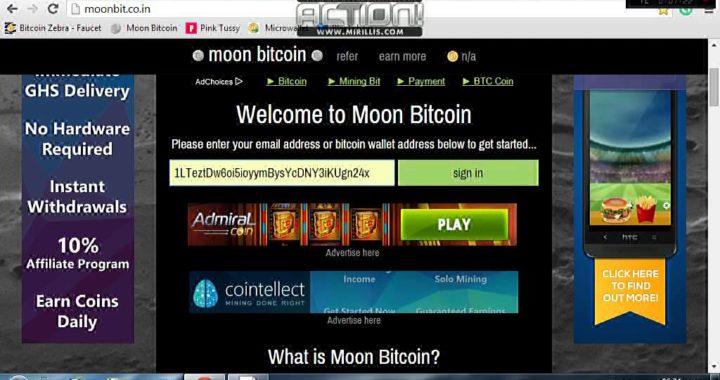 Como ganar dinero facil con MOON BITCOINS [SEGURO]