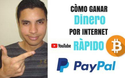 Como ganar dinero por internet sin invertir Minar Rapido y facil dolares bitcoins PAYPAL Cryptotab