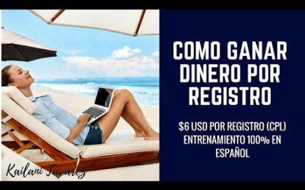 Como Ganar Dinero Registrando Personas / $6 USD Por Registro