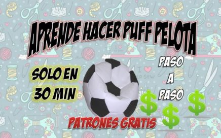 DIY: COMO HACER UN SILLON PUFF EN 30 MIN Gana Dinero$$$ /(PATRONES GRATIS 2018)