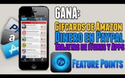 Feature Points |Gana dinero en Amazon, Paypal, Tarjetas de iTunes y Apps