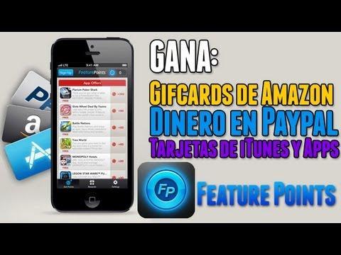 Feature Points  Gana dinero en Amazon, Paypal, Tarjetas de iTunes y Apps