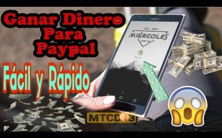 Ganar Dinero PARA PAYPAL FACIL Y RÁPIDO | Gana dinero desde tu celular 100% garantizado Dinero Real